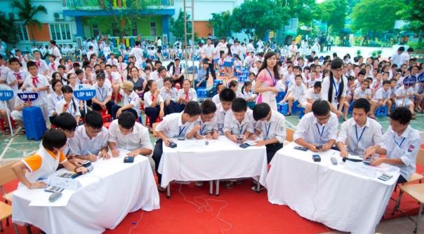 Học sinh tham gia cuộc thi tại Lễ Phát động cuộc thi